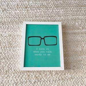Framed talk nerdy print